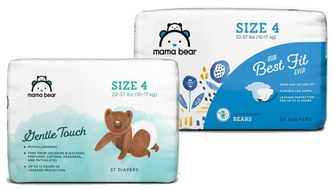 mama bear diapers best fit and gentle touch varieties