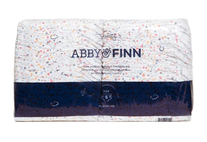 a pack of Abby & Finn Diapers