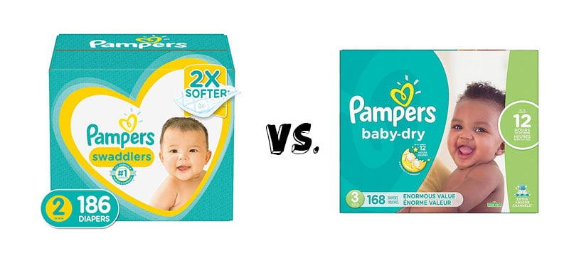 Pampers Swaddlers vs Baby-dry