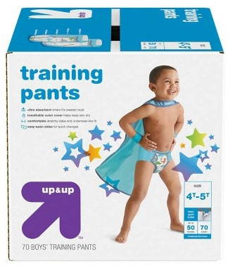 a box of Up & Up Training Pants
